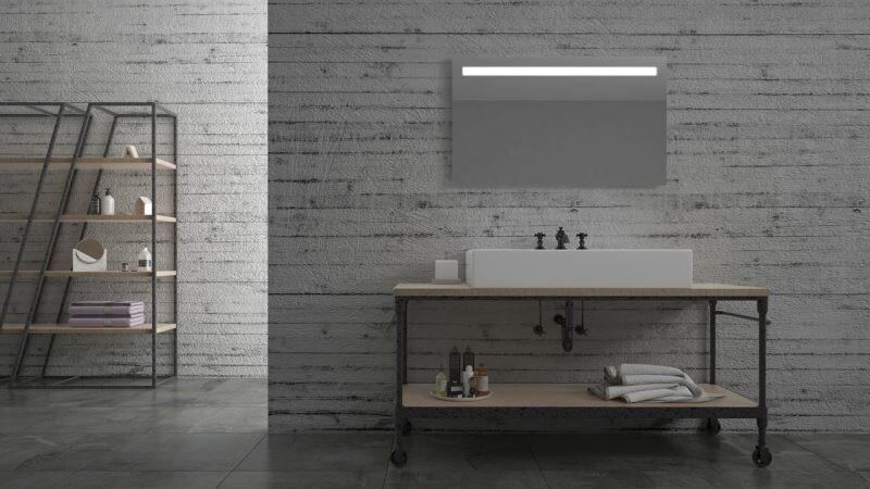 Miroir de salle de bains LED RBA série Bien (80 à 120 cm) x 60 cm
