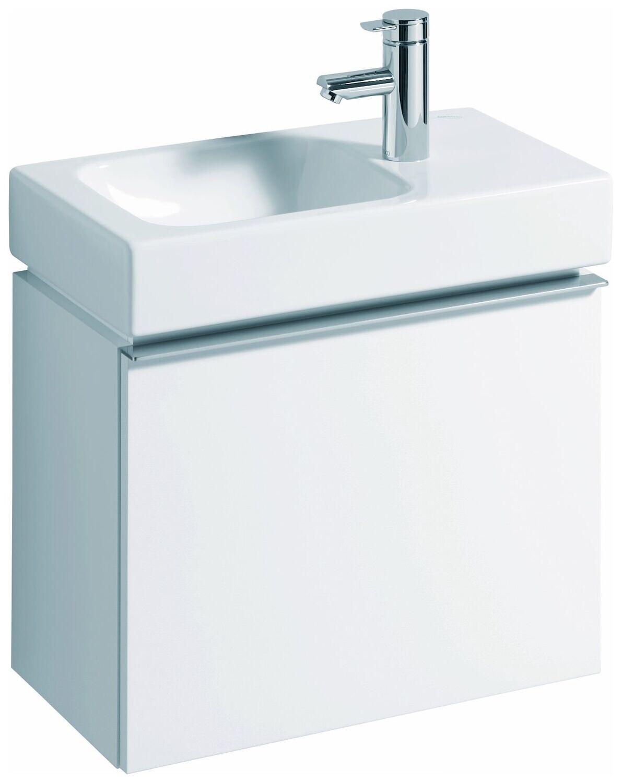 Meuble bas Geberit iCon pour lave-mains 53 cm avec un tiroir en blanc  laqué mat