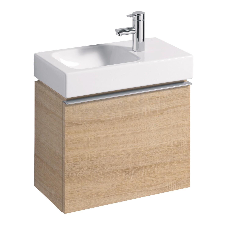 Meuble bas Geberit iCon pour lave-mains 53 cm avec un tiroir chêne naturel