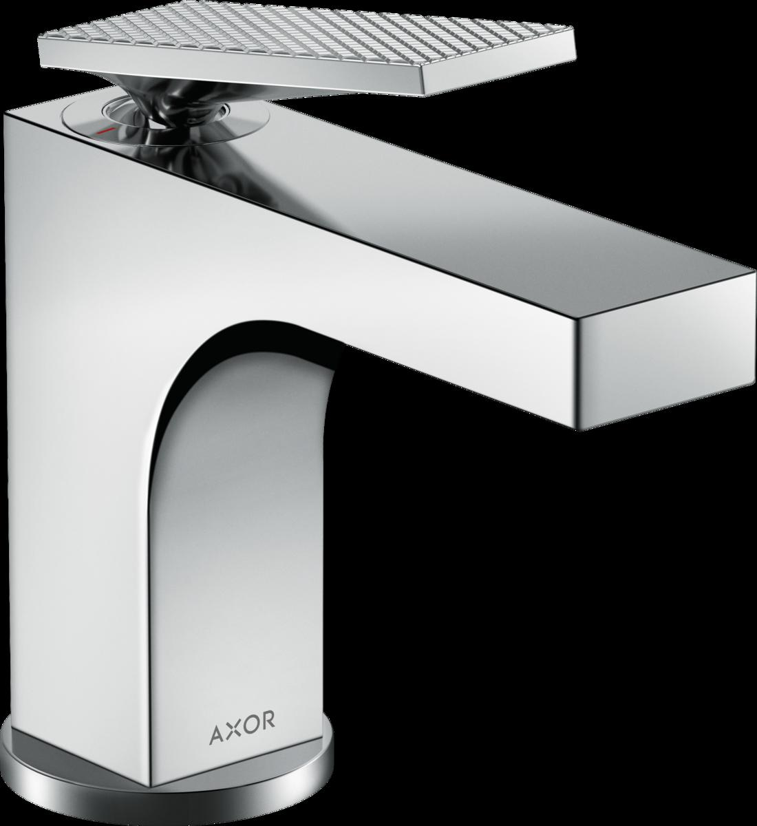 Mitigeur de lavabo AXOR Citterio 90 poignée manette avec tirette et vidage coupe rhombique