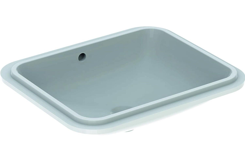 Vasque à encastrer par le dessous Geberit VariForm rectangulaire 58 x 49 cm avec trop plein