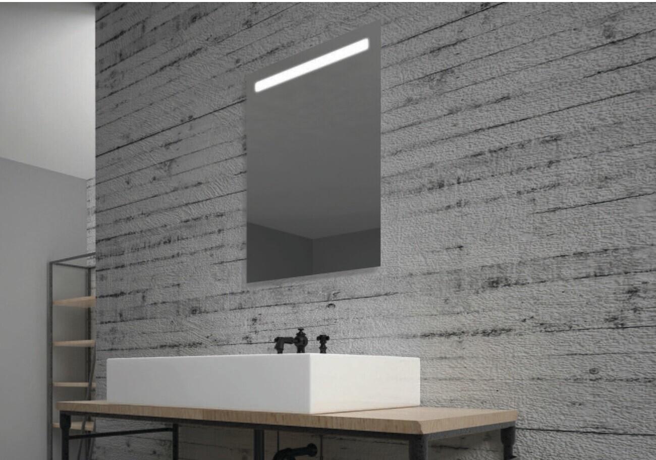 Miroir de salle de bains LED RBA série Bien 50 x 70 cm