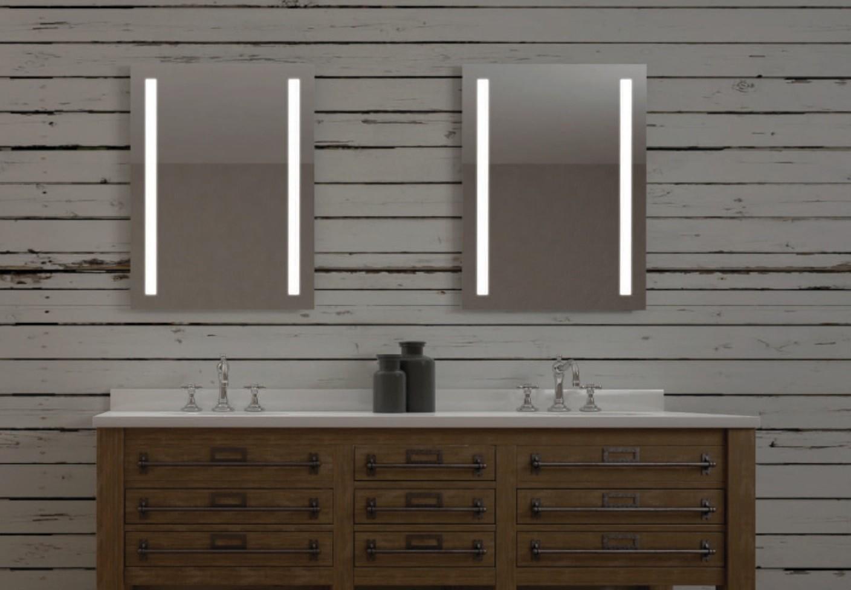 Miroir de salle de bains LED RBA série Halley 50 x 70 cm