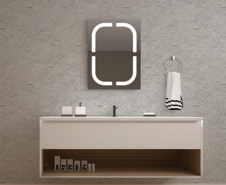 Miroir de salle de bains LED RBA série Noble 50 x 70 cm