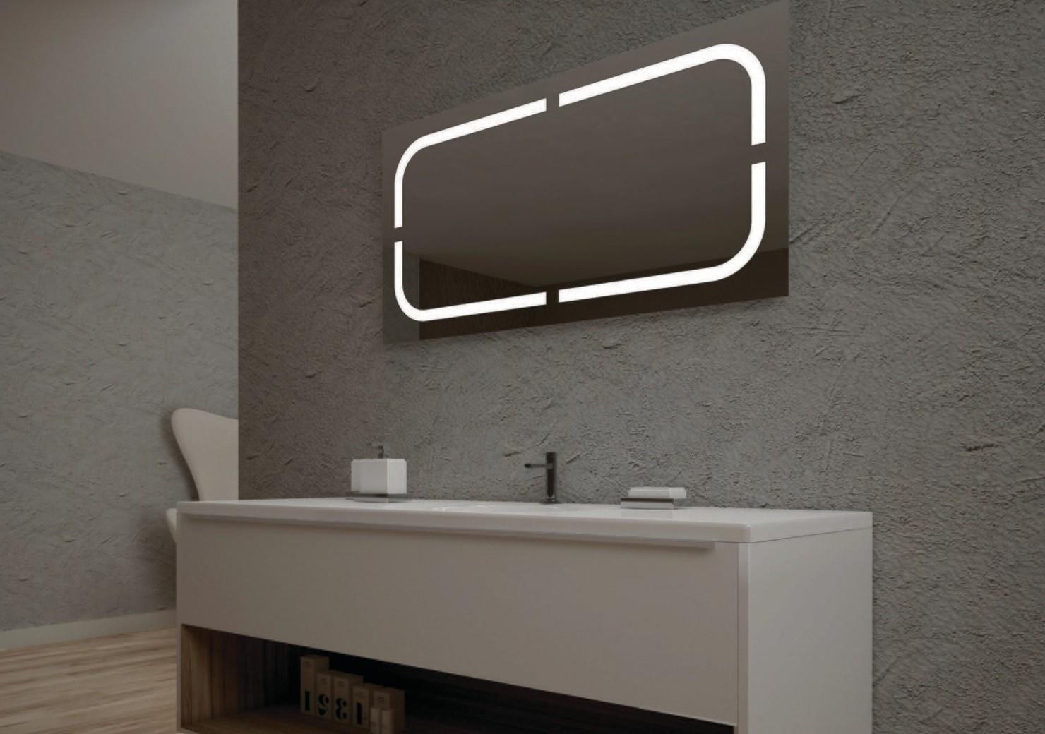 Miroir de salle de bains LED RBA série Noble (80 à 120 cm) x 60 cm
