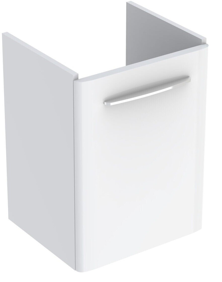 Meuble bas Geberit Selnova Square pour lavabo 60 cm avec une porte en blanc laqué ultra-brillant