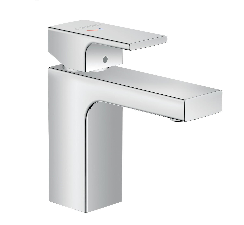 Mitigeur de lavabo Hansgrohe Vernis Shape 100 CoolStart chromé avec tirette et vidage