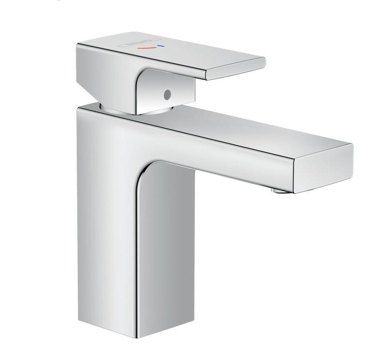 Mitigeur de lavabo Hansgrohe Vernis Shape 100 CoolStart chromé avec tirette et vidage synthétique