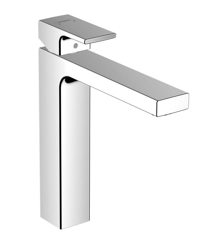 Mitigeur de lavabo Hansgrohe Vernis Shape 190 chromé avec tirette et vidage synthétique