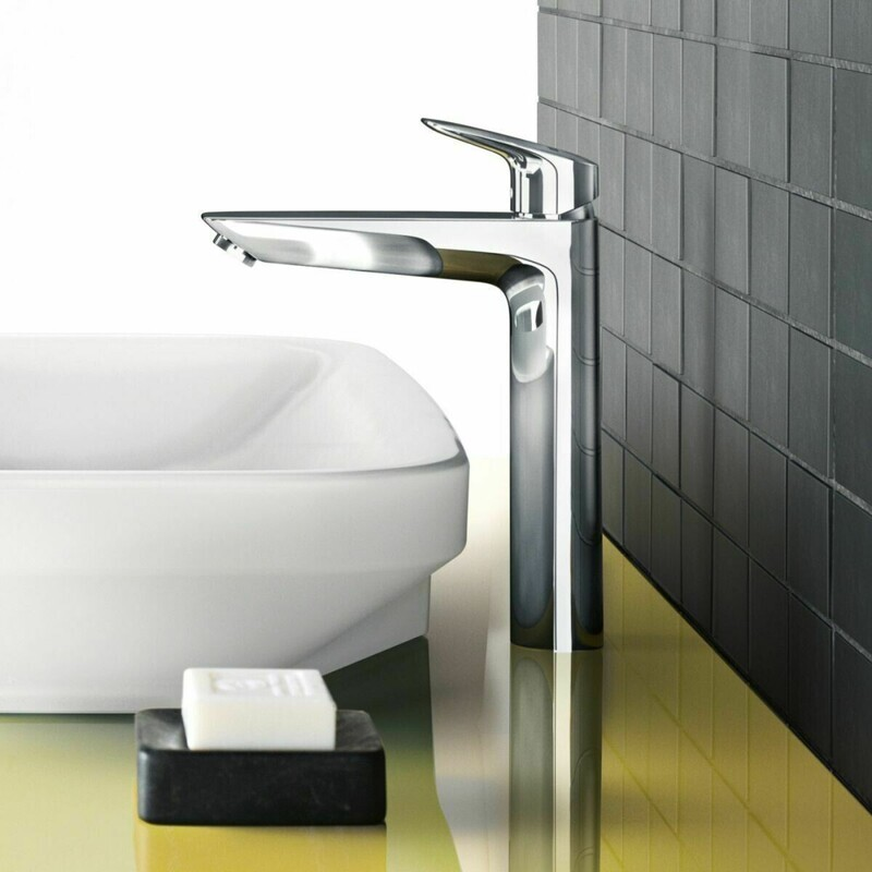 Mitigeur de lavabo Hansgrohe Logis 190 Ecosmart en laiton chromé avec tirette et vidage