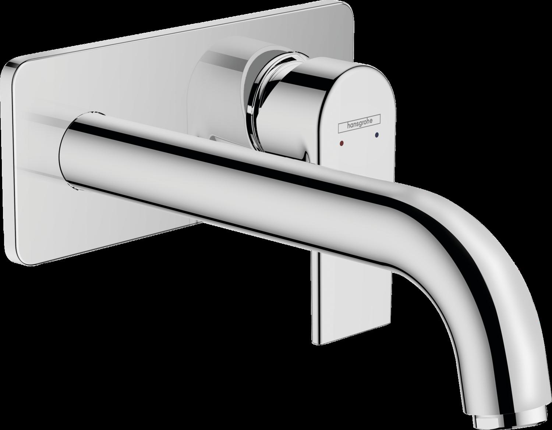 Mitigeur de lavabo encastré Hansgrohe Vernis Shape bec 207 mm avec bonde à écoulement libre