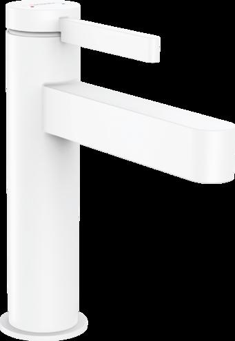 Mitigeur lavabo Hansgrohe Finoris 110 avec tirette et vidage en blanc mat