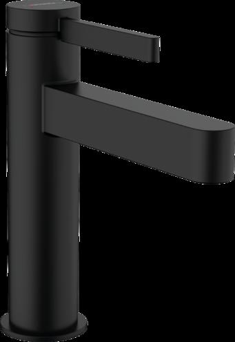 Mitigeur lavabo Hansgrohe Finoris 110 avec tirette et vidage en noir mat
