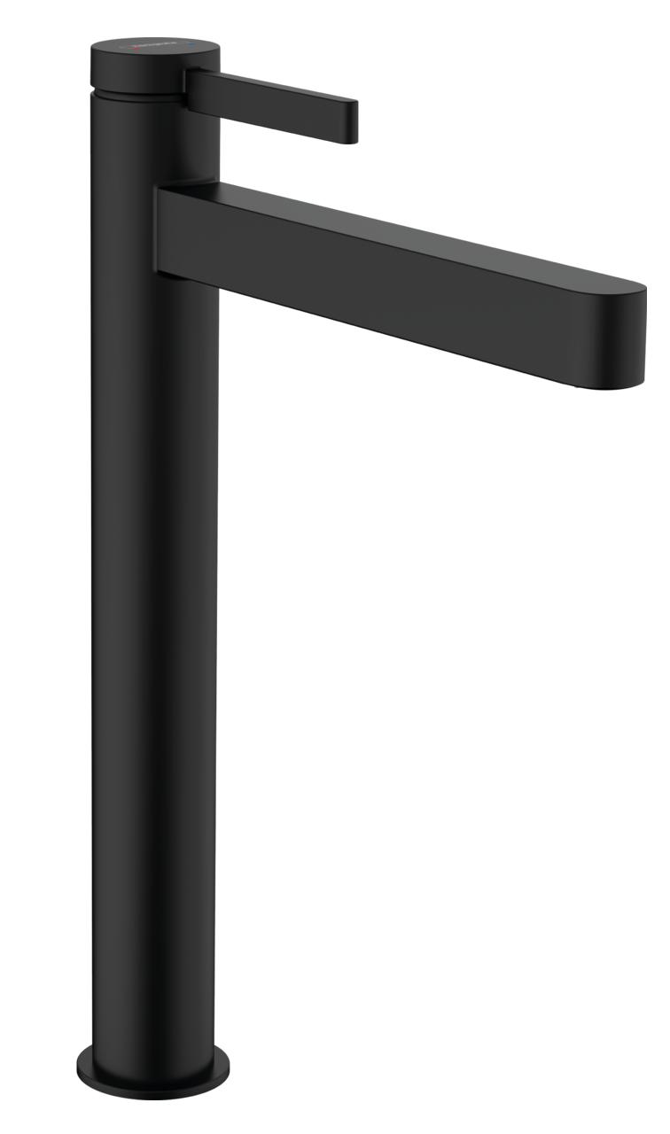 Mitigeur de lavabo Hansgrohe Finoris 260 avec bonde push-open en noir mat