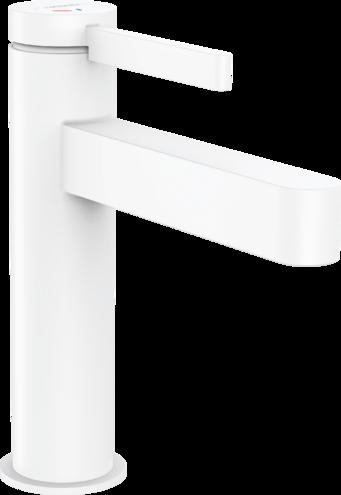 Mitigeur de lavabo Hansgrohe Finoris 110 CoolStart avec bonde push-open en blanc mat