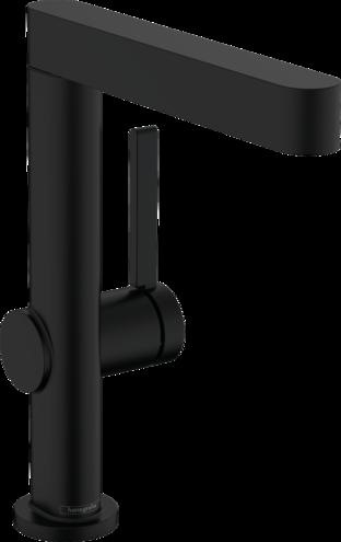 Mitigeur de lavabo Hansgrohe Finoris 230 avec bec orientable et bonde push-open en noir mat