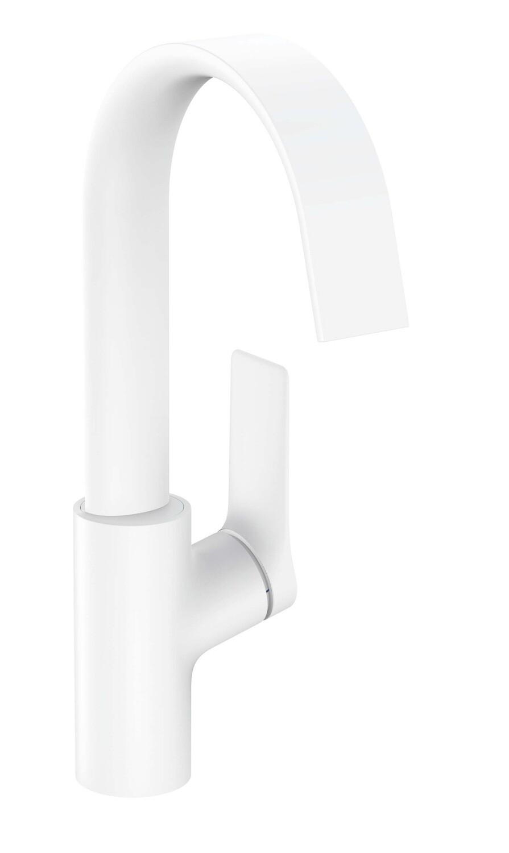Mitigeur de lavabo Hansgrohe Vivenis 210 avec bec orientable et tirette et vidage en blanc mat