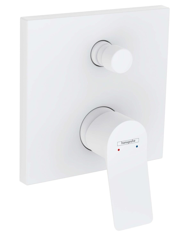 Set de finition pour mitigeur bain / douche encastré Hansgrohe Vivenis en blanc mat