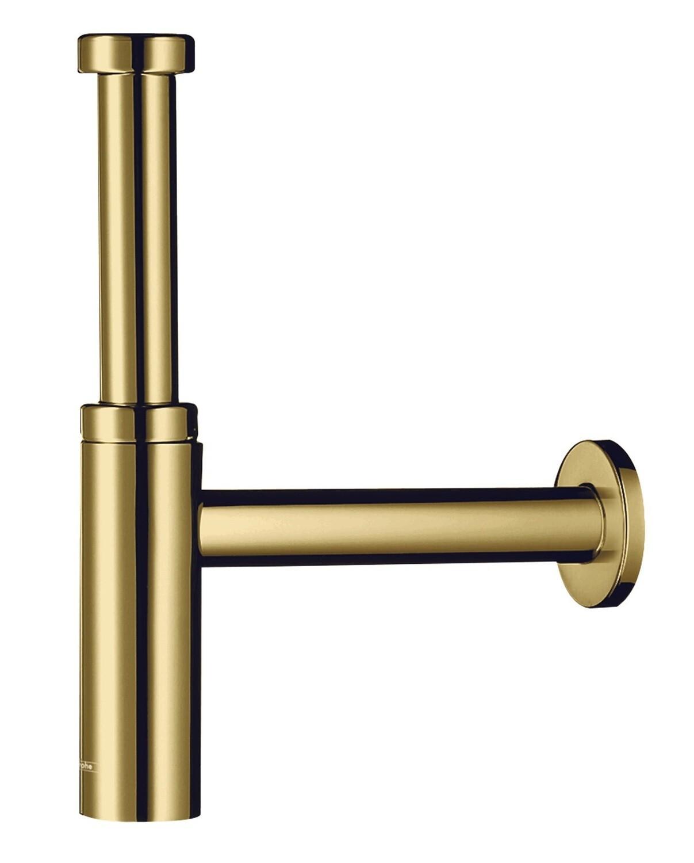 Siphon design Hansgrohe Flowstar S pour lavabo aspect doré poli