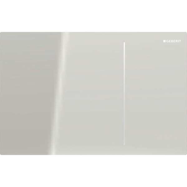 Plaque de déclenchement Geberit Sigma70 pour réservoir à encastrer Sigma 8 cm / Verre sable gris
