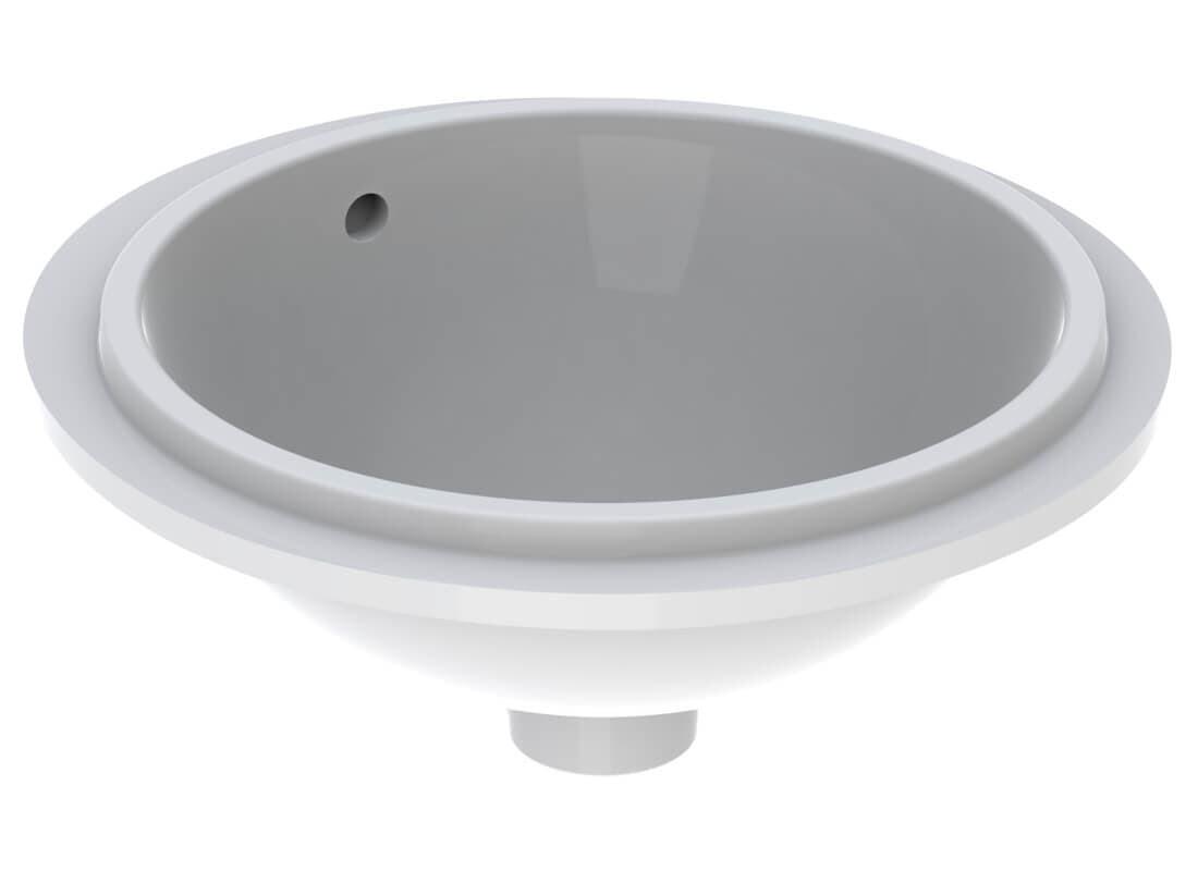 Vasque à encastrer par le dessous Geberit VariForm circulaire diamètre 40 cm avec trop plein