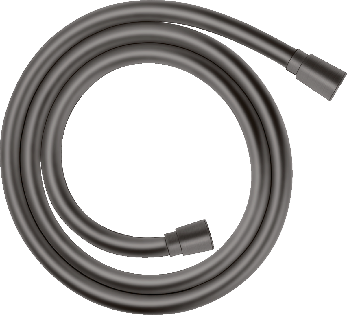 Flexible de douche Hansgrohe Isiflex 1,25 m en noir chromé brossé