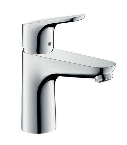 Mitigeur de lavabo Hansgrohe Focus 100 CoolStart en laiton chromé  avec tirette et vidage