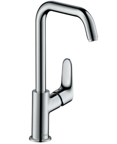 Mitigeur de lavabo Hansgrohe Focus 240 bec haut en laiton chromé avec tirette et vidage