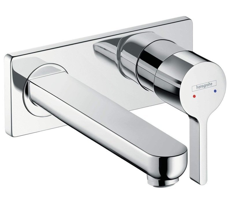 Mitigeur de lavabo encastré Hansgrohe Metris S 225 mm en laiton chromé