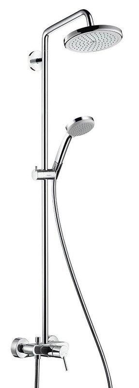 Colonne de douche Showerpipe Hansgrohe Croma avec mitigeur mécanique  chromé - Garantie 5 ans