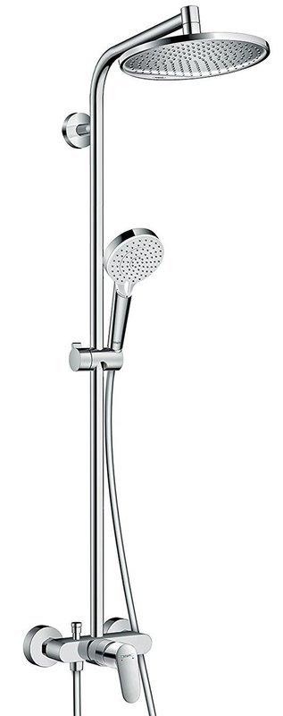 Colonne de douche Showerpipe Hansgrohe Crometta S avec mitigeur mécanique chromé - Garantie 5 ans