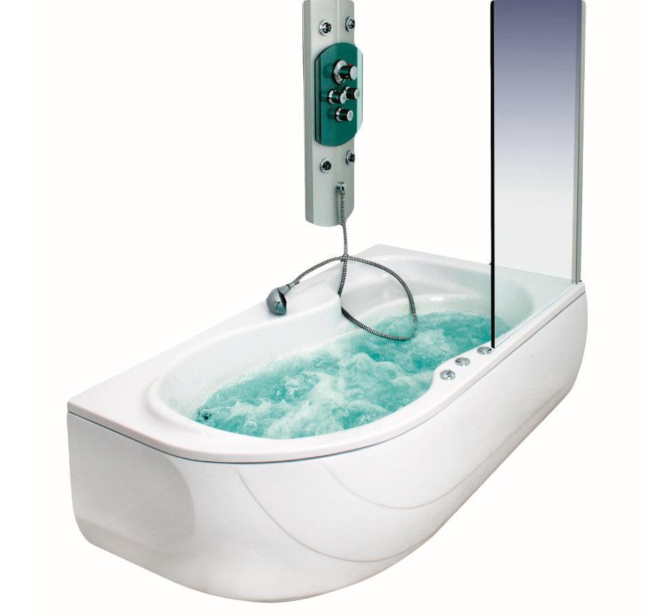 Baignoire Oasis droite hydromassage simple 160 x 90 cm