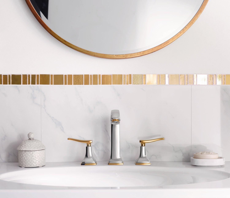 Mélangeur de lavabo Hansgrohe Metropol Classic 3 trous 160 poignées manettes, avec tirette et vidage
