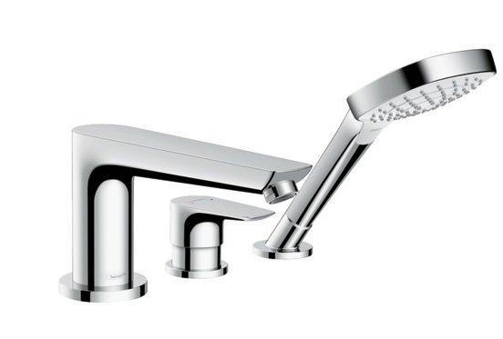 Mitigeur 3 trous pour montage sur bord de baignoire Hansgrohe Talis E