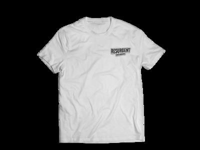 Resurgent Small Logo T- (white)