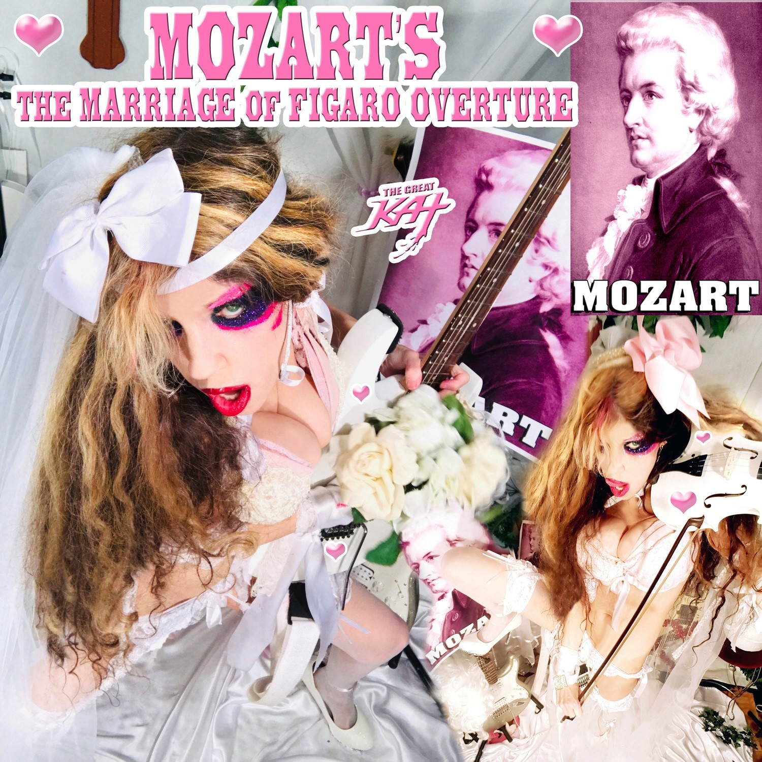 """NEW MOZART'S """"THE MARRIAGE OF FIGARO OVERTURE"""" SINGLE Music CD (2:09)! PERSONALIZED AUTOGRAPHED by THE GREAT KAT! (Signed to Customer's Name)! ONLY $19.99"""