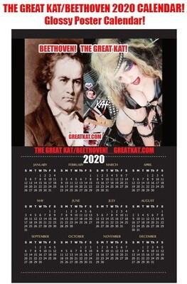 THE GREAT KAT/BEETHOVEN 2020 CALENDAR is HERE!!! 11