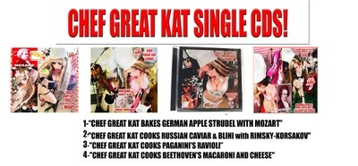 CHEF GREAT KAT SINGLE CDS! PERSONALIZED AUTOGRAPHED by THE GREAT KAT! (Signed to Customer's Name) $21.99 EACH (Timings & Info Below)​