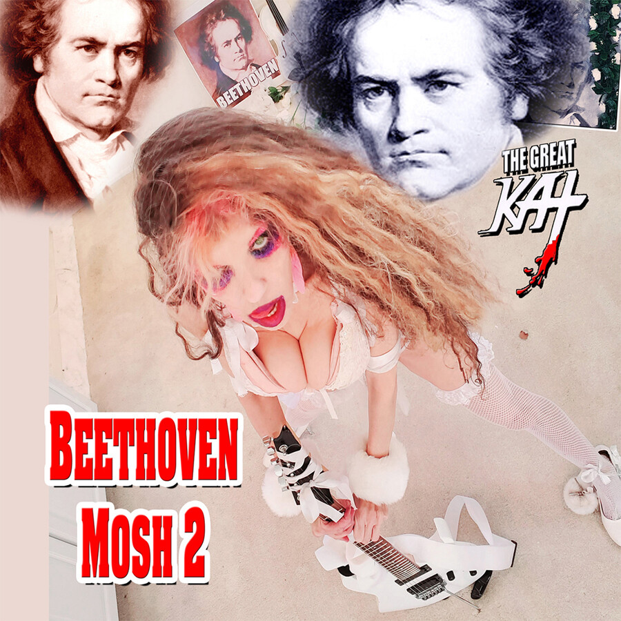 """NEW """"BEETHOVEN MOSH 2"""" SINGLE Music CD by THE GREAT KAT (1:45)! PERSONALIZED AUTOGRAPHED by THE GREAT KAT! PERSONALIZED AUTOGRAPHED by THE GREAT KAT! (Signed to Customer's Name)!"""