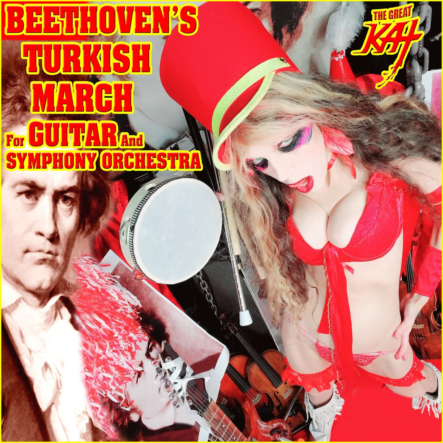 BEETHOVEN'S TURKISH MARCH for GUITAR and SYMPHONY ORCHESTRA! Personalized Autographed HOT GREAT KAT 8x10 Glossy Color Photo​