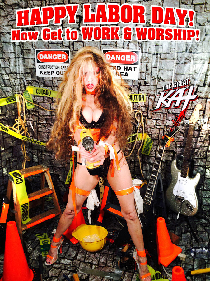 HAPPY LABOR DAY! Now Get to WORK & WORSHIP! Personalized Autographed HOT GREAT KAT 8x10 Glossy Color Photo​