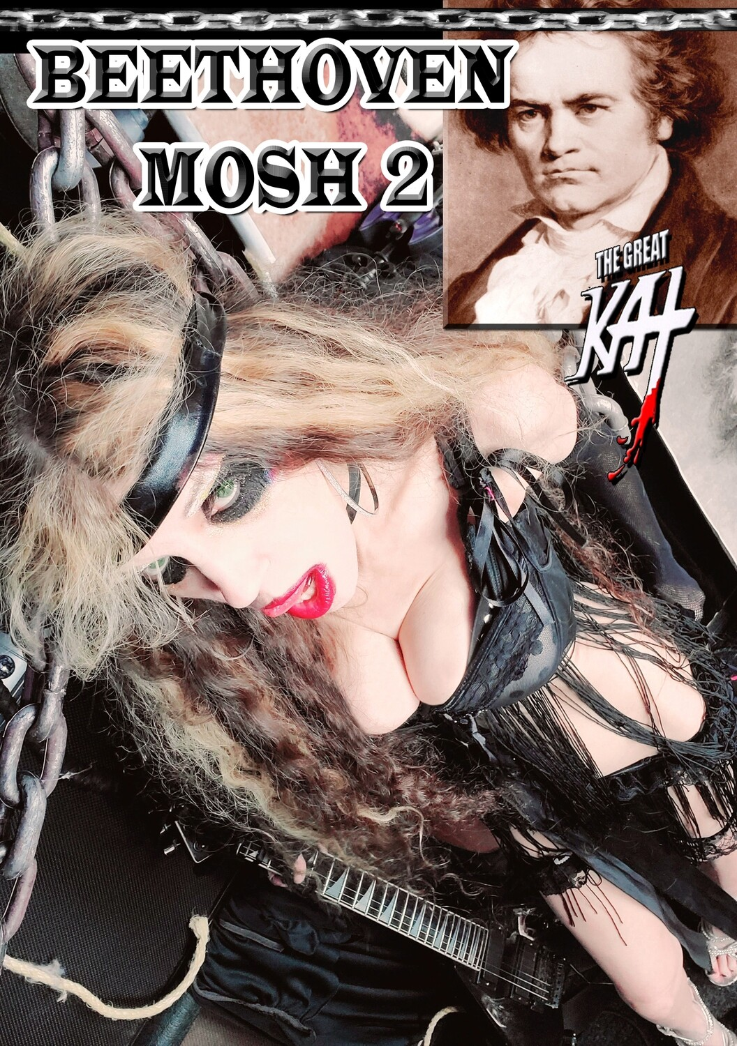 THE GREAT KAT is GOD, the REINCARNATION of BEETHOVEN and YOUR METAL MESSIAH and SAVIOR! Personalized Autographed HOT GREAT KAT 8x10 Glossy Color Photo