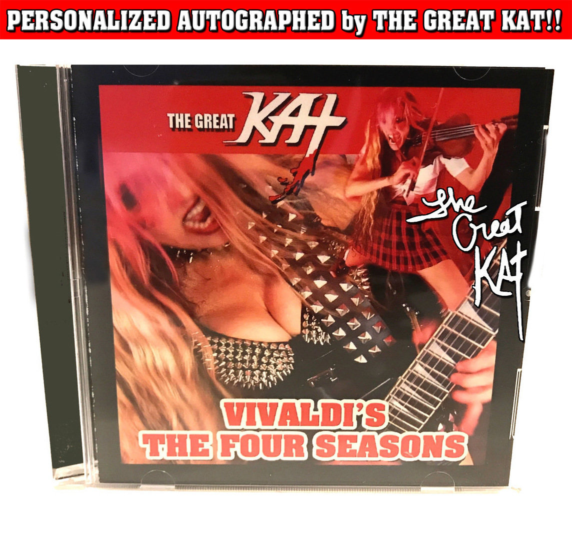 """VIVALDI'S THE FOUR SEASONS"" SINGLE Music CD (2:12)! PERSONALIZED AUTOGRAPHED by THE GREAT KAT! (Signed to Customer's Name)"