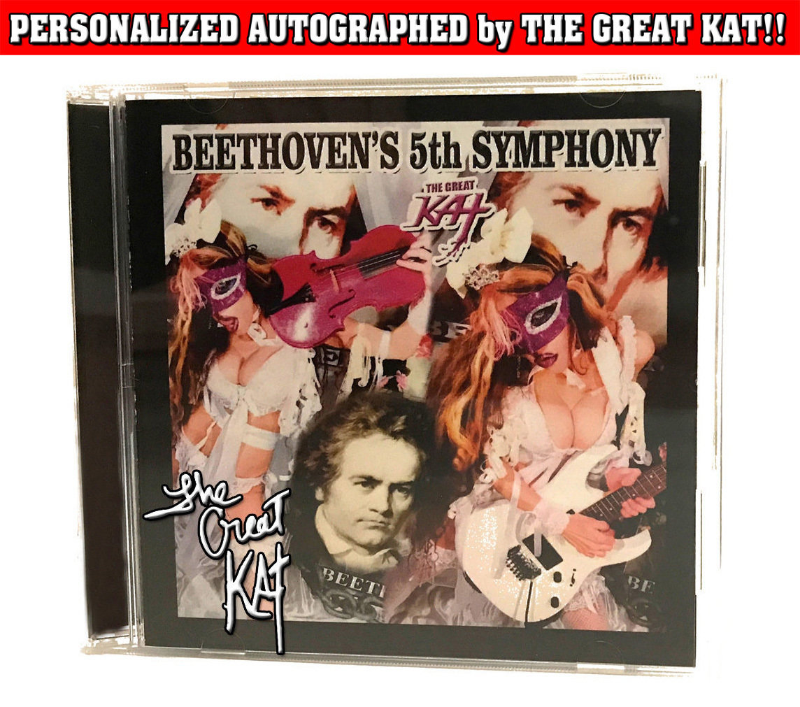 """""""BEETHOVEN'S 5th SYMPHONY"""" SINGLE Music CD (1:13)! PERSONALIZED AUTOGRAPHED by THE GREAT KAT! (Signed to Customer's Name) HAPPY BEETHOVEN'S 250TH BIRTHDAY!"""