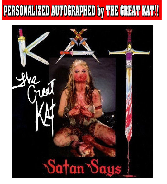 """SATAN SAYS"" VINYL RECORD - COLLECTOR'S ITEM! PERSONALIZED AUTOGRAPHED (Signed to Customer's Name)​ 3-SONG EP 12""! Lmtd Quantities!"