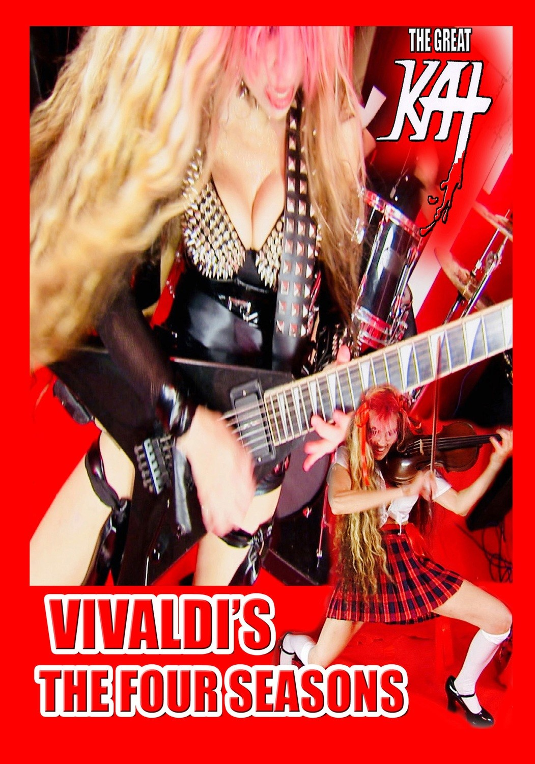 """""""VIVALDI'S THE FOUR SEASONS"""" MUSIC VIDEO SINGLE DVD (2:13)! By The Great Kat! PERSONALIZED AUTOGRAPHED by THE GREAT KAT! (Signed to Customer's Name)"""