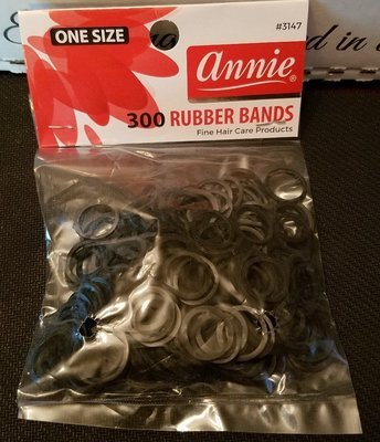 Annie Black Rubberbands 300 ct
