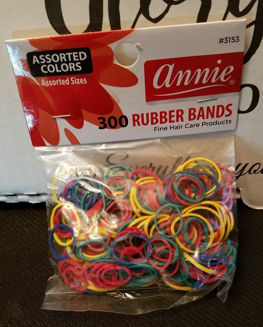 Annie Rubber Bands Assorted Colors 300 ct