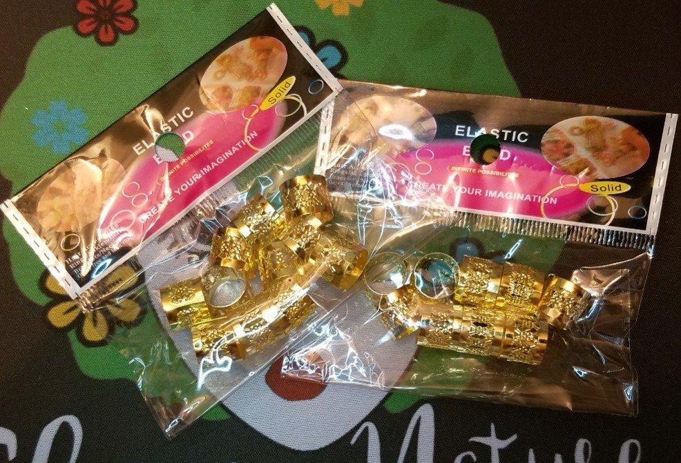 Gold Jumbo Hair Jewelry Tubes