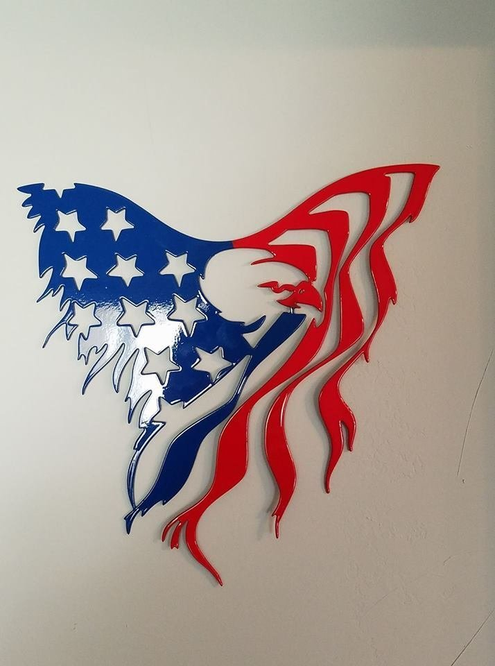 Red And Blue Eagle